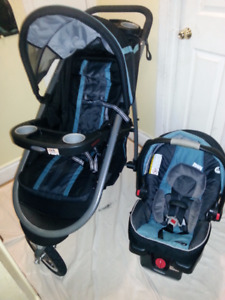 Graco click connect jogging travel system +car seat with base