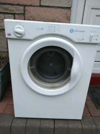 White knight vented dryer 3kg £40