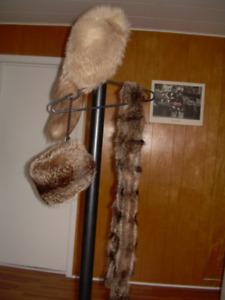 Manteau de fourrure et accessoires