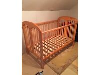 Pine Cot Bed. Good Condition