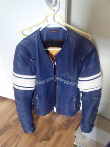ICON leather motorcycle jacket - Pursuit - Men's Small