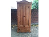 Stunning pine double wardrobe * free delivery