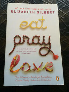 """ Eat Pray Love "" by Elizabeth Gilbert - large paperback-only $2"