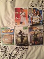 5 wii games for sale.