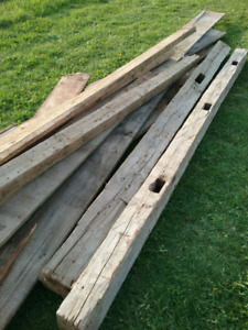 Barn board - Reclaimed, antique, hand hewn beams and boards