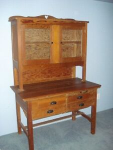 Antique Cabinet and Hutch - known as Doukhobor Bread Cabinet
