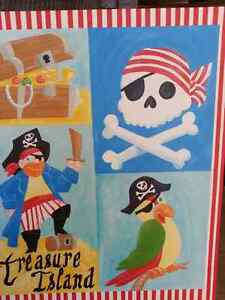 Pirate Wrapped Canvas Print/Painting for Kids Room Cambridge Kitchener Area image 4