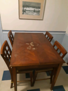 Table With Four Chairs - $50 OBO