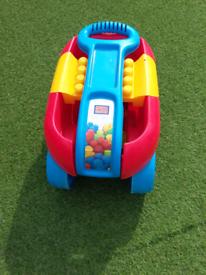 Mega blocks pull along cart