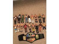 WWE wrestlers x18 & belt