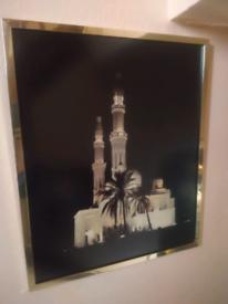 Jumeirah Mosque Dubai framed picture.