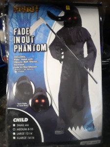 Fade in out phantom costume boys size med 8-10