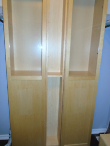 IKEA STORAGE CABINETS (birch finish) WITH GLASS DOORS