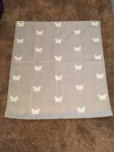 Grey and white butterfly drapes