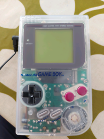 Gameboy, AC Adapter, Case + Link Cable