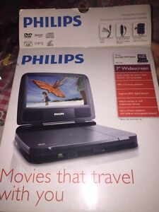 """PHILIPS 7"""" Portable DVD Player 60 $"""