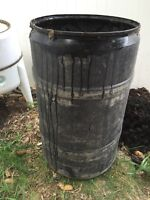 Rain barrel. Water storage. Water barrel
