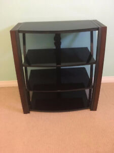 Glass/wood TV Stand in perfect condition