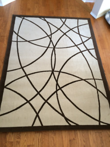 Large low pile area rug