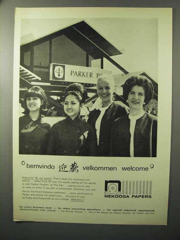 1964 Nekoosa Papers Ad - Bemvindo Velkommen Welcome