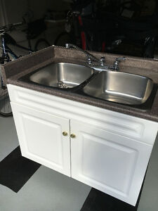 Cabinet with stainless sink