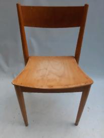 Vintage retro Danish mid century wooden kitchen dining desk chair x 1