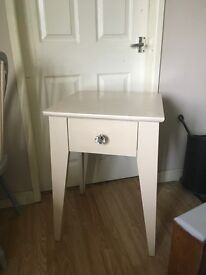 Tall solid up cycled side table