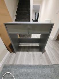 Grey small desk