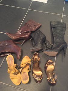 Aldo, Nine West, Chines Laundry  -Leather Boots & Open Toe Heels