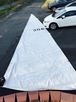 Mainsail in great condition for a sail boat.