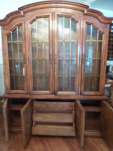 WOOD  CABINET DREXEL DISPLAY CASE 100% CANADIAN SOLID WOOD