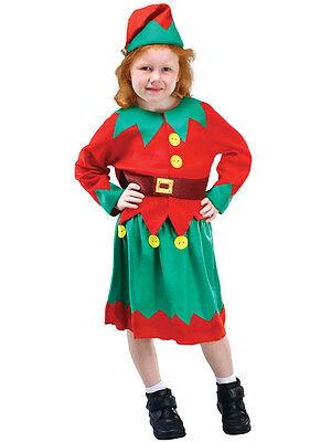 Christmas Santa's Little Helper Elf Toddler Kids Boy Girl Xmas Fancy Dress 3-10