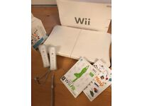Nintendo wii console plus fit balance board and accessories
