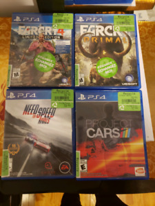 Ps4 games $50 for 4 games