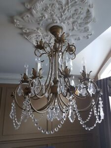 Crystal for chandeliers buy or sell indoor home items in real crystal chandelier aloadofball Images