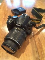 Nikon D3100 extremely well cared for!