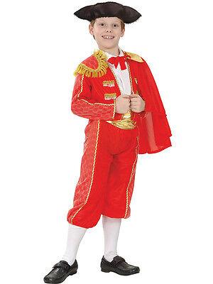 Boys Spanish Matador National Fancy Dress Costume Childs Bull Fighter Book Week - Boys Matador Costume