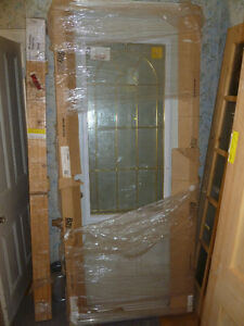 "New 32 "" Exterior Steel door With Glass insert"