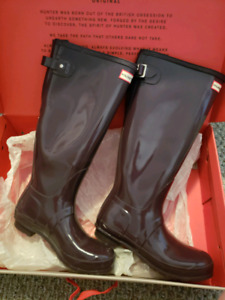 Purple Hunter boots - trade for a black pair
