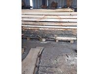 Oak ash elm cherry planked timber