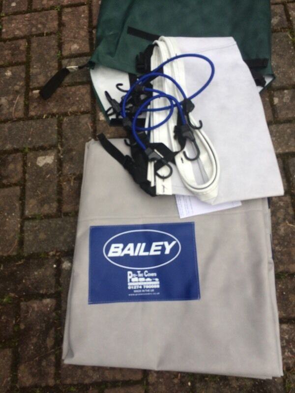 Caravan Towing Coverin Ringwood, HampshireGumtree - Protec Tailored caravan cover. Fits 2016 Bailey Unicorn Cadiz. Blue and silver with Bailey logo. Complete with bag. Condition as new as unused. Price new £175.00!