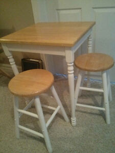 Table and two stools