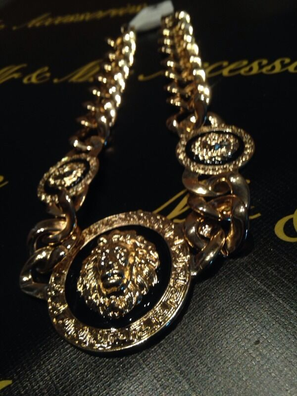 Versace Inspired Necklace Versace Inspired Necklace With