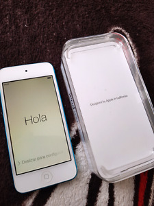 16 GB Blue Ipod Touch 5th Generation.