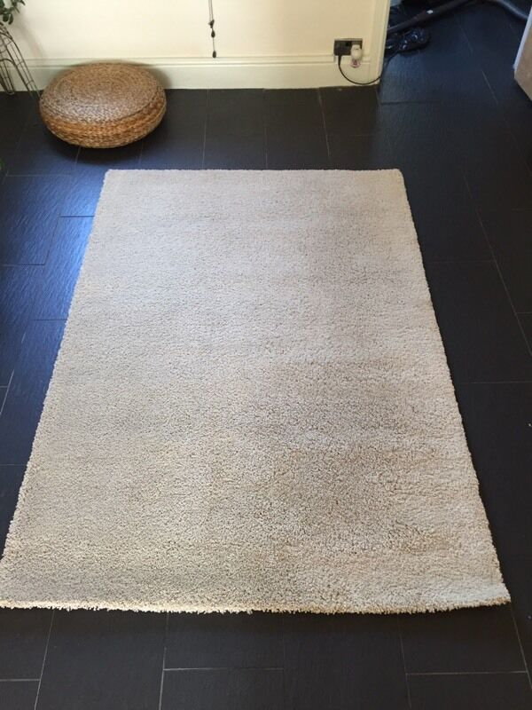 Like New Ikea Adum Beige Cream Rug 133cm X 195cm