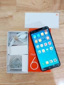 XIAOMI REDMI 6 3GB 32GB SMARTPHONE IN BLACK BOXED