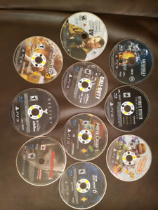 Lot of 10 playstation ps3 games used