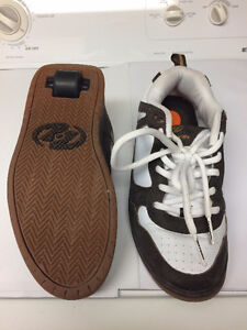 Heelys shoes with wheels on the bottom