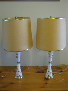 Two mid-century modern table lamps