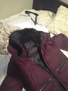 "Maroon with Black Fur MACKAGE Winter Jacket 42"" with original ca Kitchener / Waterloo Kitchener Area image 4"